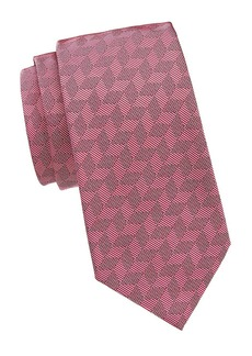 Armani Tonal Geometric Silk Tie