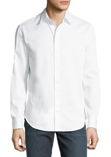Armani Tonal Pattern Cotton Sport Shirt