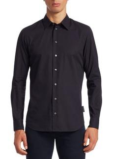 Armani Tonal Stripe Button-Down Shirt