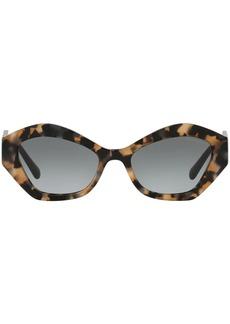 Armani tortoiseshell-pritn cat-eye frame sunglasses