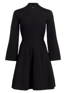 Armani Tuck Stitch Fit-&-Flare Dress