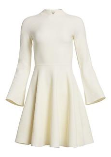 Armani Tuck Stitch Fit-&-Flare Dress