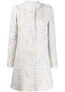 Armani tweed tailored coat