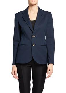 Armani Two-Button Stretch-Denim Jacket w/ Seaming