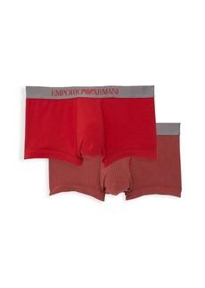 Armani 2-Pack Stretch Cotton Trunks
