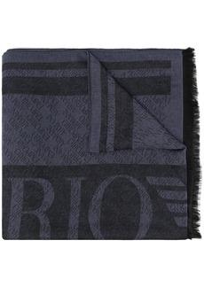 Armani two-tone monogram scarf