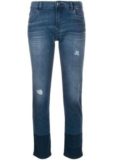 Armani two tone skinny jeans