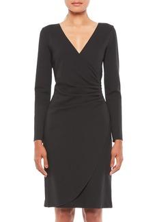 Armani V-Neck Long-Sleeve Dress