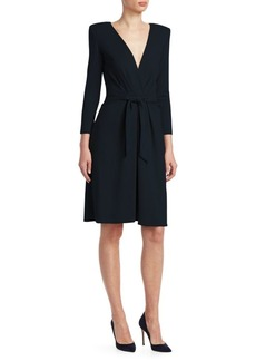 Armani V-Neck Tie Front Dress