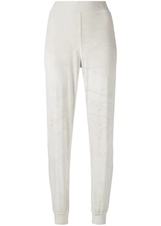 Armani velour feel trousers