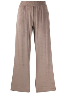 Armani velour wide leg trousers