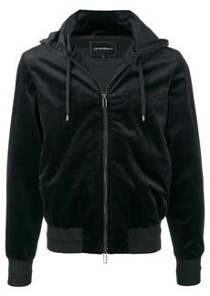 Armani velour zip hoodie