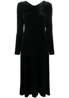 Armani velvet-effect midi dress
