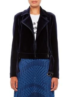 Armani Velvet Moto Jacket