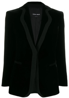 Armani velvet single-breasted blazer