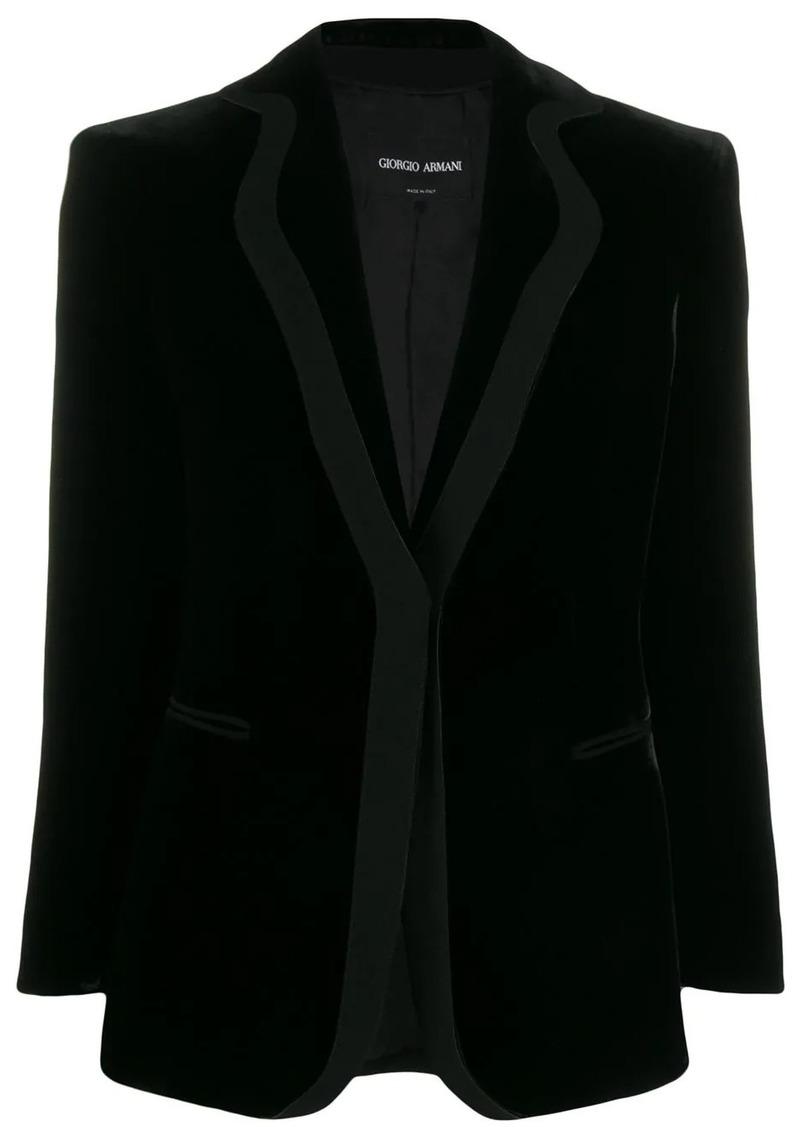 Armani velvet single-breasted blazer