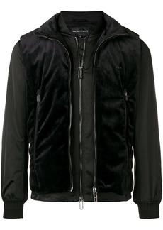 Armani velvet vest layered jacket