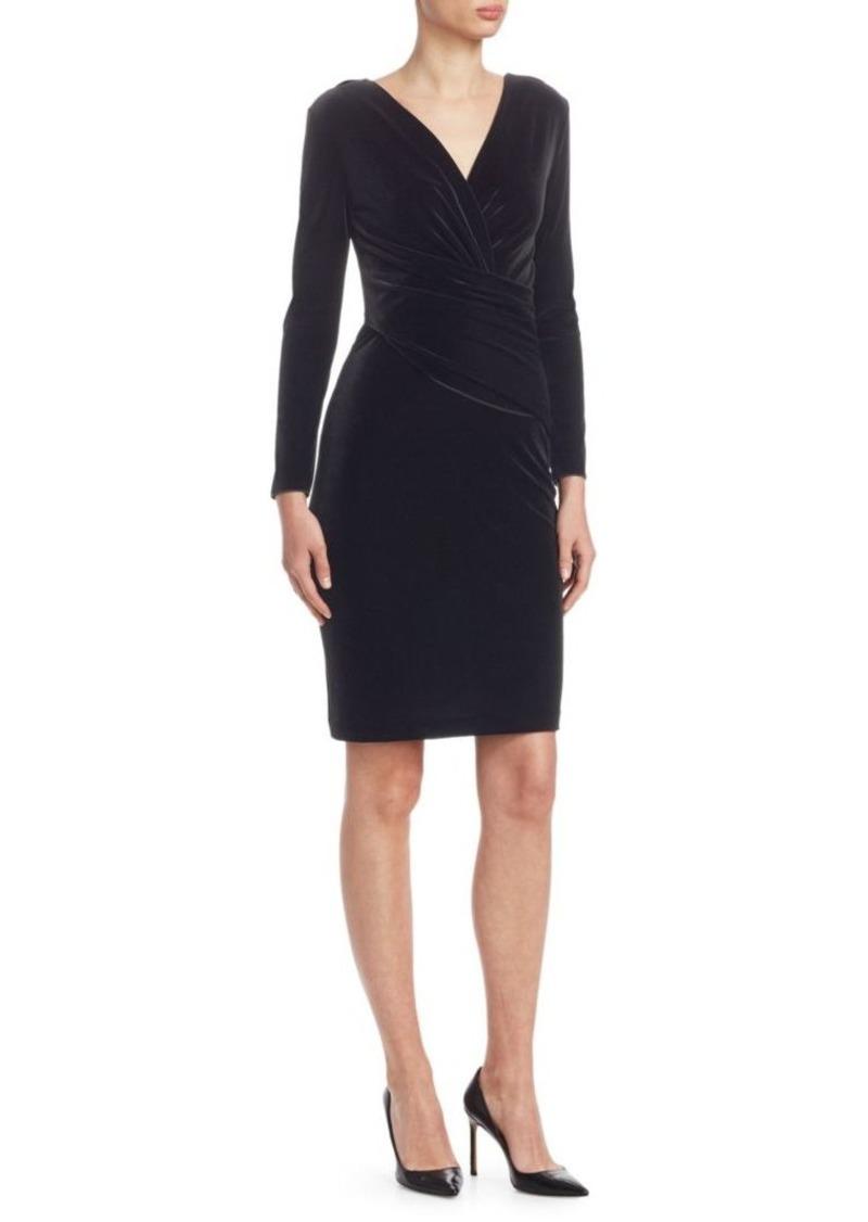 Armani Velvet Wrap-Front Dress
