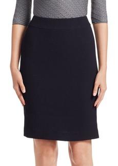 Armani Waffle Texture Wool Pencil Skirt