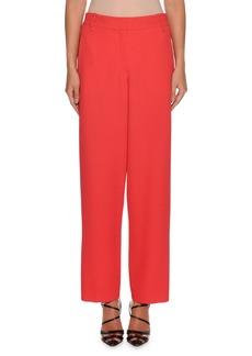 Armani Waffle-Weave Zip-Front Wide-Leg Wool-Blend Pants