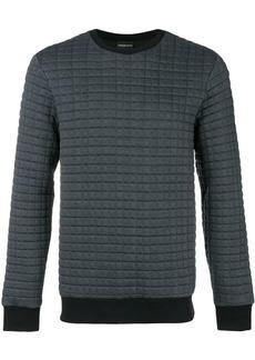 Armani waffled crew neck sweatshirt