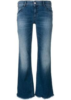 Armani washed flare leg jeans