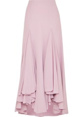 Armani Waterfall Ruffled Asymmetric Silk-crepe Skirt