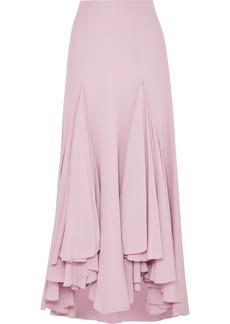 Armani Waterfall Ruffled Asymmetric Silk-crepe Skirt
