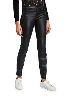 Armani Waxed 5-Pocket Skinny Jeans