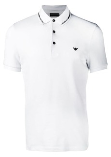 Armani white polo top