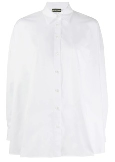 Armani wide hem long sleeve shirt