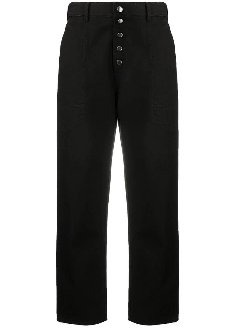 Armani wide leg cropped jeans