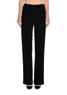 Armani Wide-Leg Silk Pants  Black
