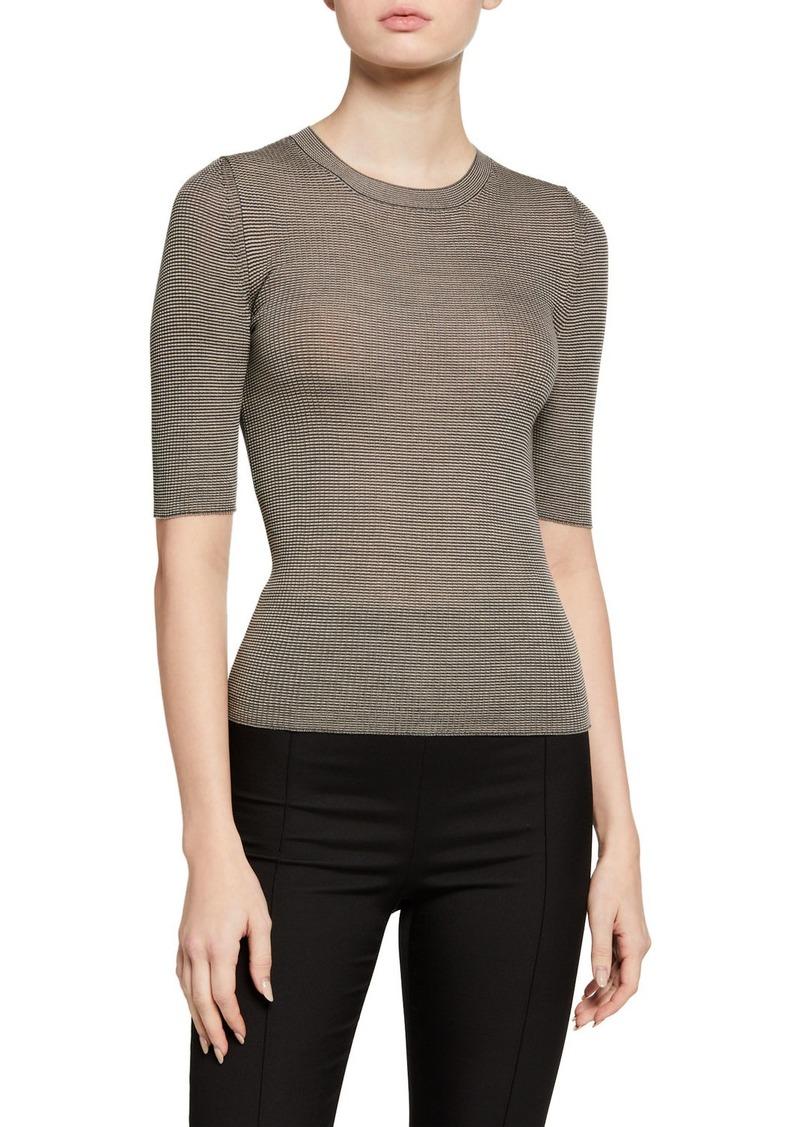 Armani Wool Bicolor 1/2-Sleeve Shell