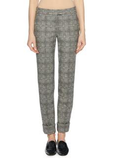 Armani Wool-Blend Check-Patterned Pants