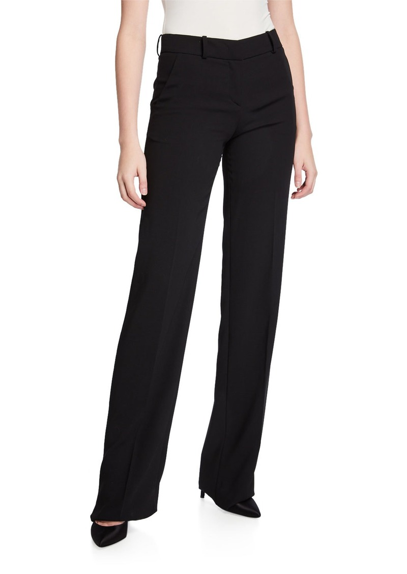 Armani Wool Crepe Boot-Cut Trousers