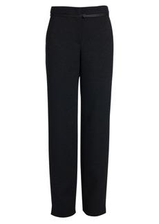 Armani Wool Lurex Straight-Leg Trousers