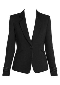 Armani Wool Lurex Tuxedo Jacket
