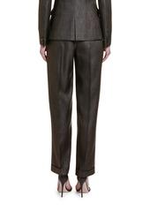 Armani Wool-Silk High-Rise Wide Leg Pants