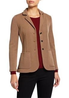 Armani Wool-Viscose Button-Front Jacket