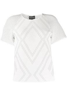 Armani woven detail T-shirt