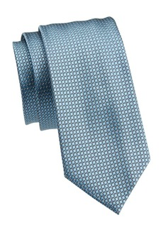 Armani Woven Geometric-Print Silk Tie
