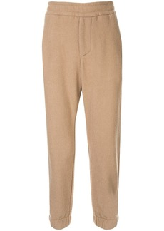 Armani woven jogger-style trousers