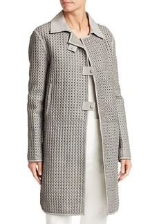 Armani Woven Lamb Leather Coat
