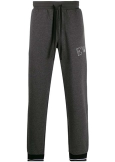 Armani woven logo print track pants