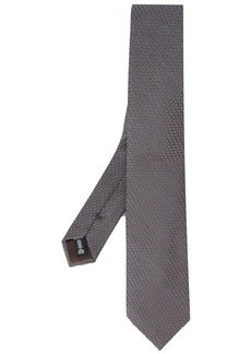 Armani woven pointed-tip tie
