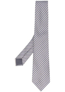 Armani woven striped pattern tie