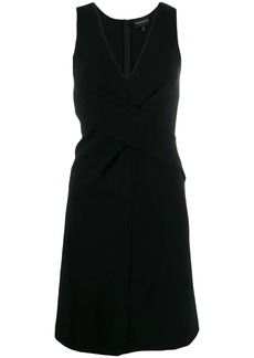 Armani wrap-front v-neck dress