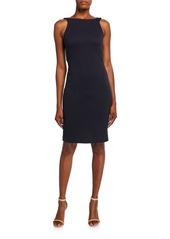 Armani Zen Dotted Jersey Sleeveless Dress