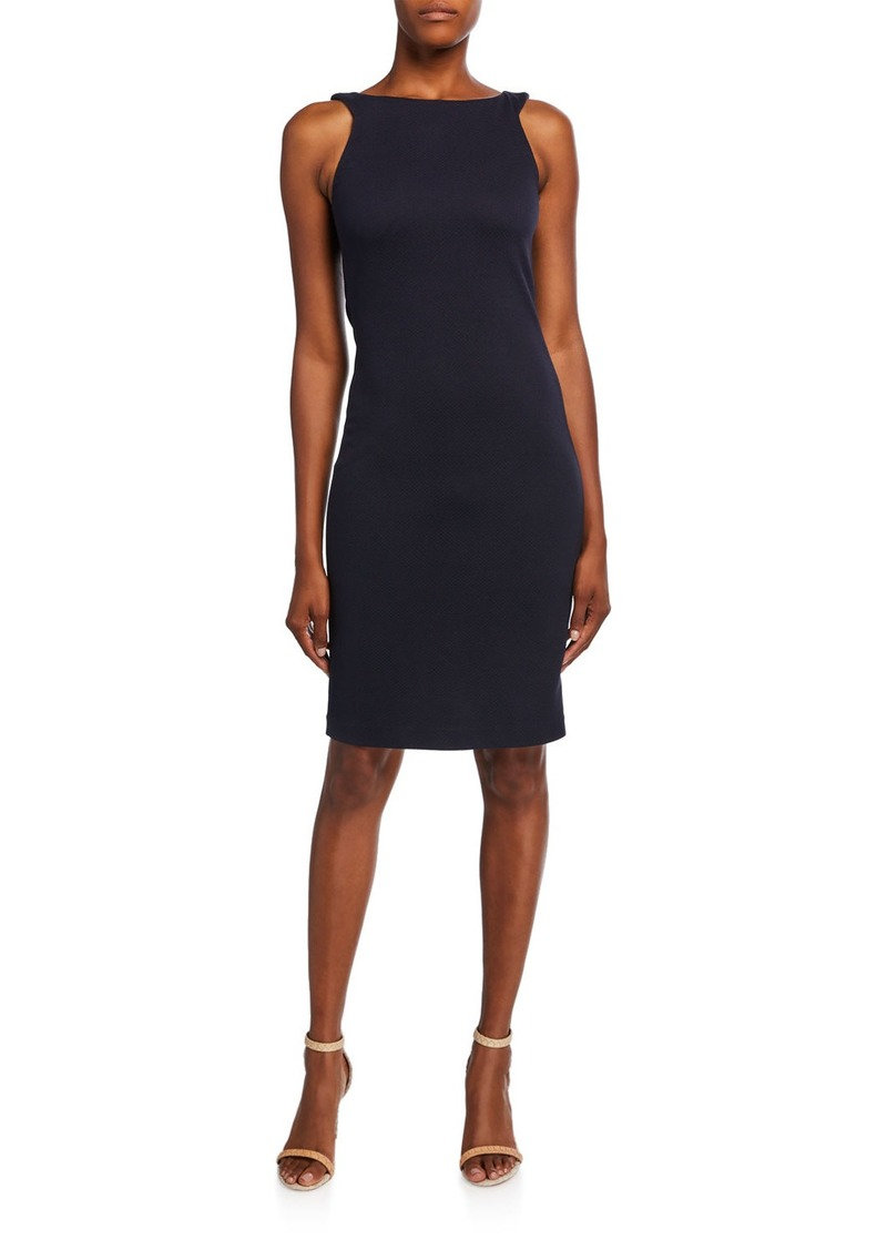 Armani Zen Dotted Jersey Sleeveless Dress
